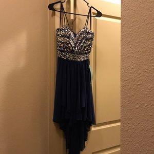 Navy blue Prom dress. Never been worn.